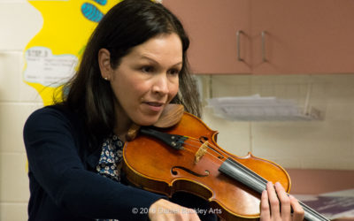 Myrna Salinas teaches beginning violin at Summit View Elementary School.